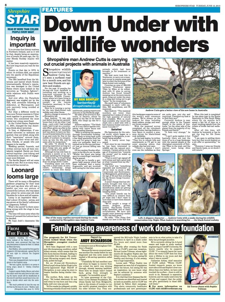 Australian ecology work